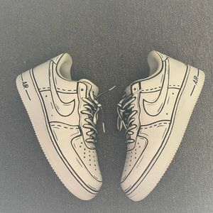 Nike Air Force 1 Custom 'CARTOON' size 10 mens